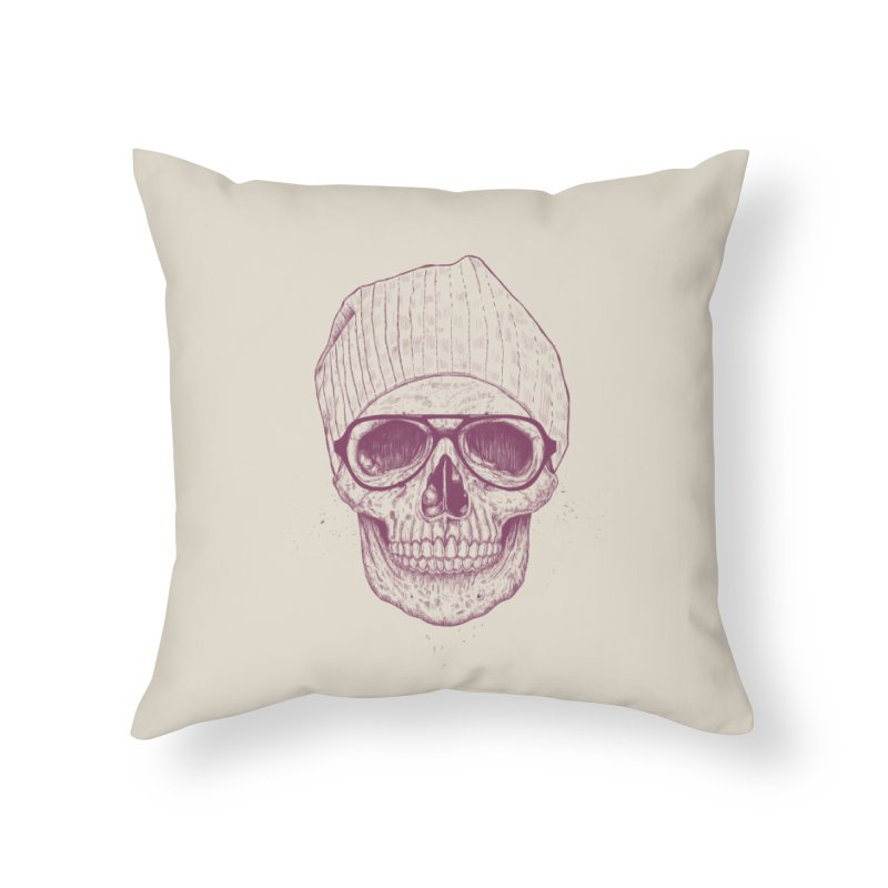 Cool skull Home Throw Pillow by Balazs Solti