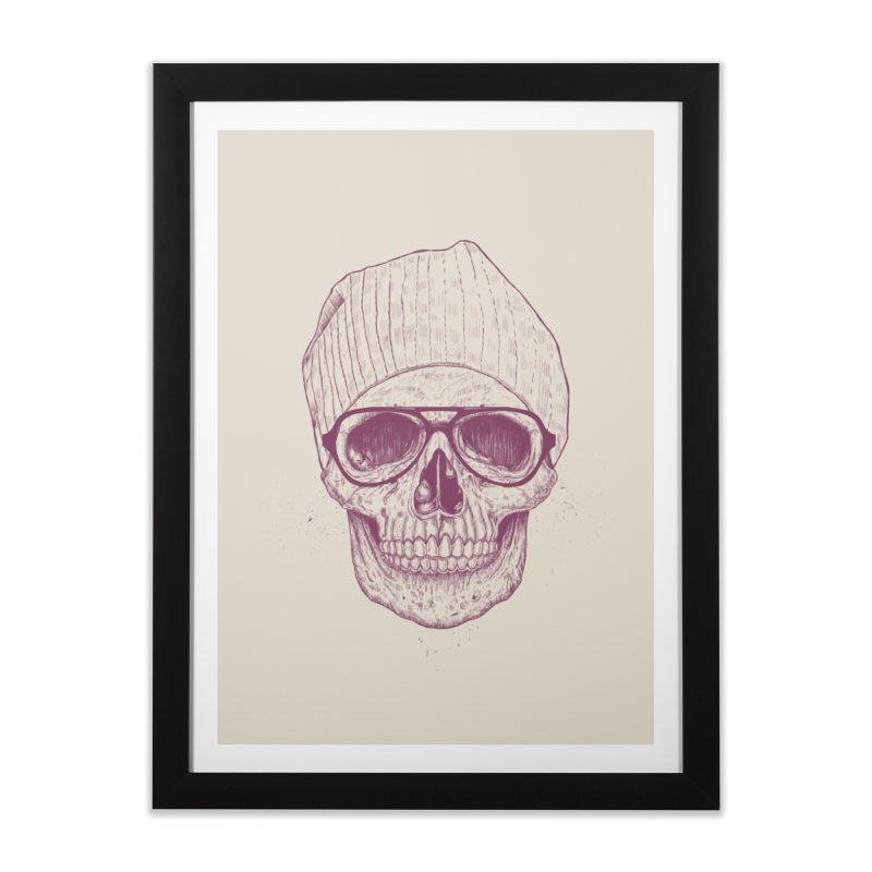 Cool skull Home Framed Fine Art Print by Balazs Solti