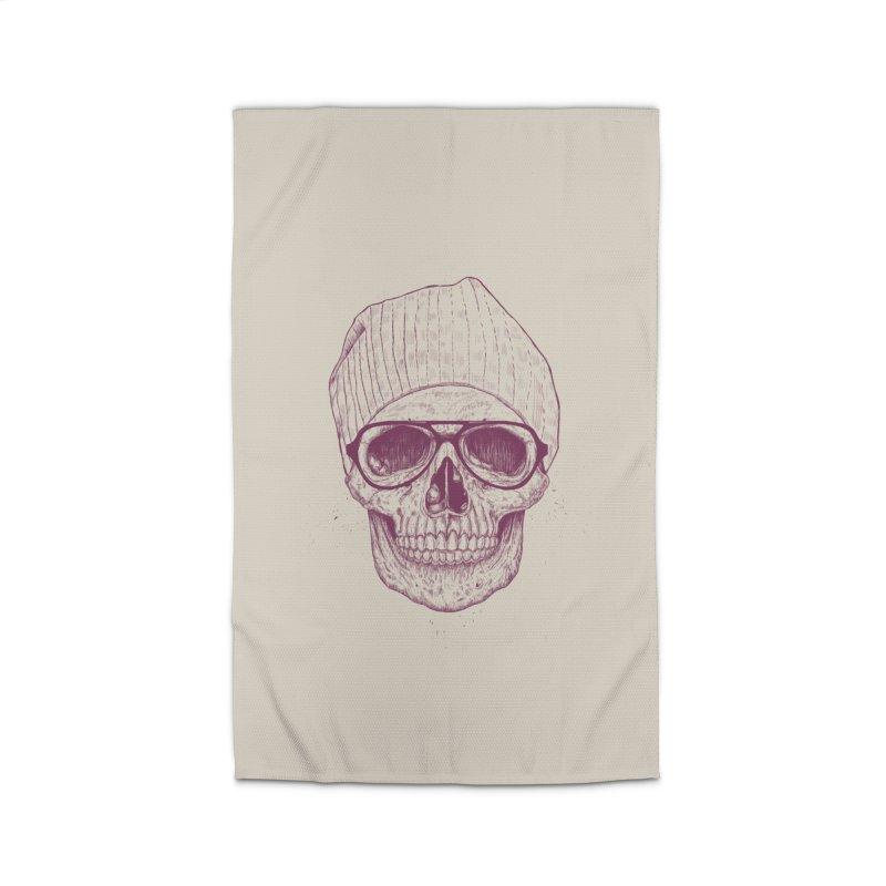 Cool skull Home Rug by Balazs Solti
