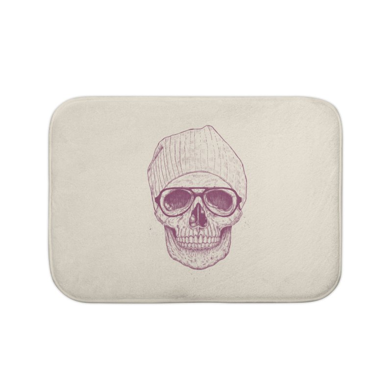 Cool skull Home Bath Mat by Balazs Solti