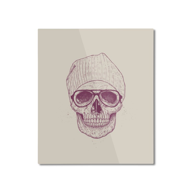 Cool skull Home Mounted Aluminum Print by Balazs Solti