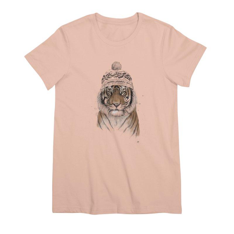Siberian tiger Women's Premium T-Shirt by Balazs Solti