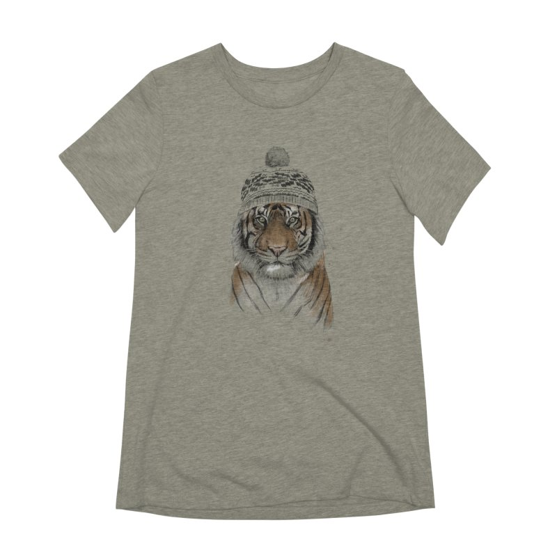 Siberian tiger Women's Extra Soft T-Shirt by Balazs Solti