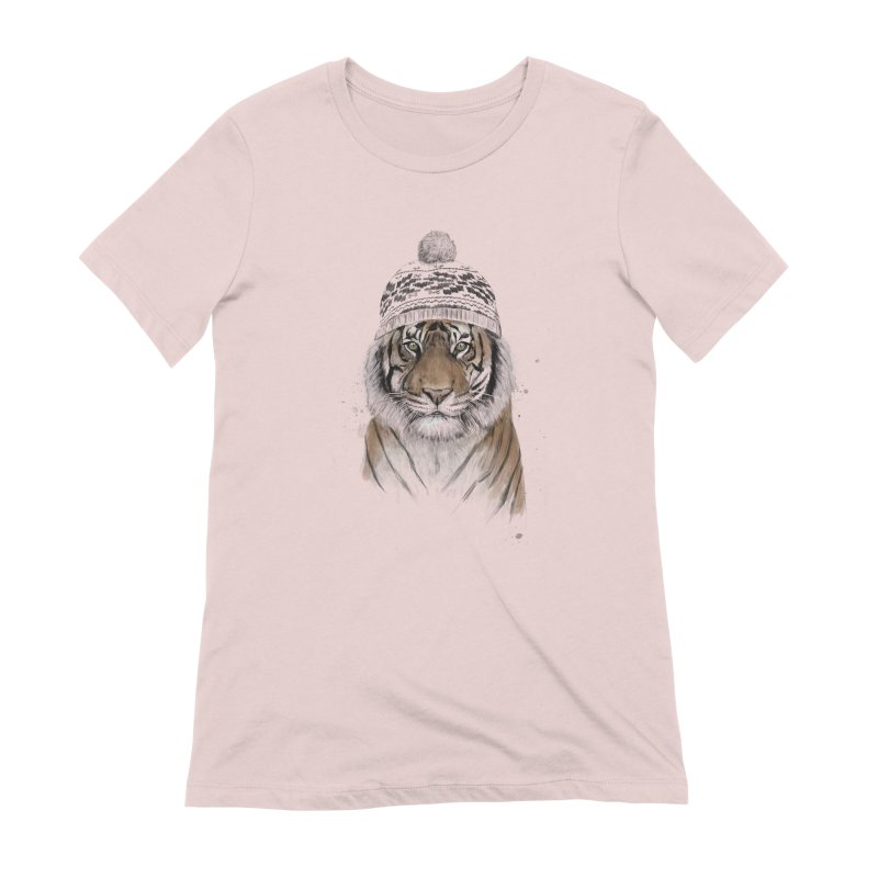 Siberian tiger Women's Extra Soft T-Shirt by Balazs Solti