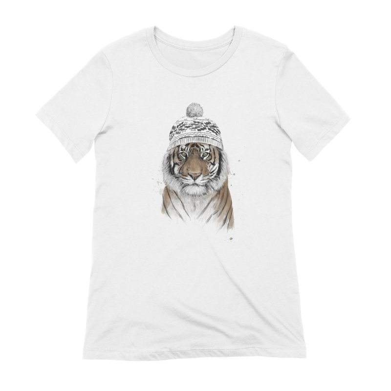 Siberian tiger Women's T-Shirt by Balazs Solti