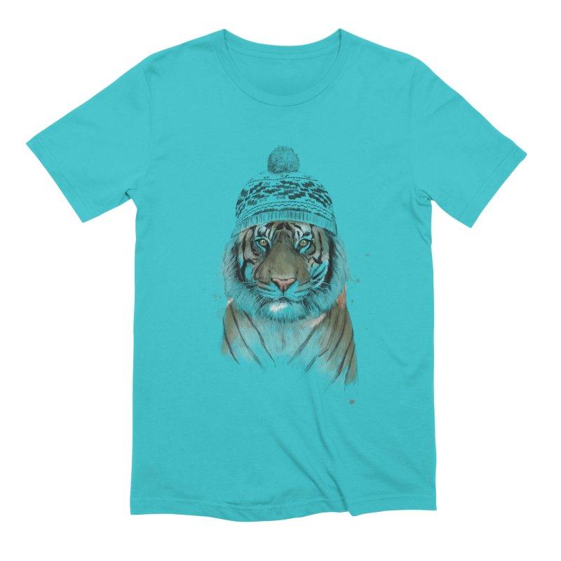 Siberian tiger Men's Extra Soft T-Shirt by Balazs Solti