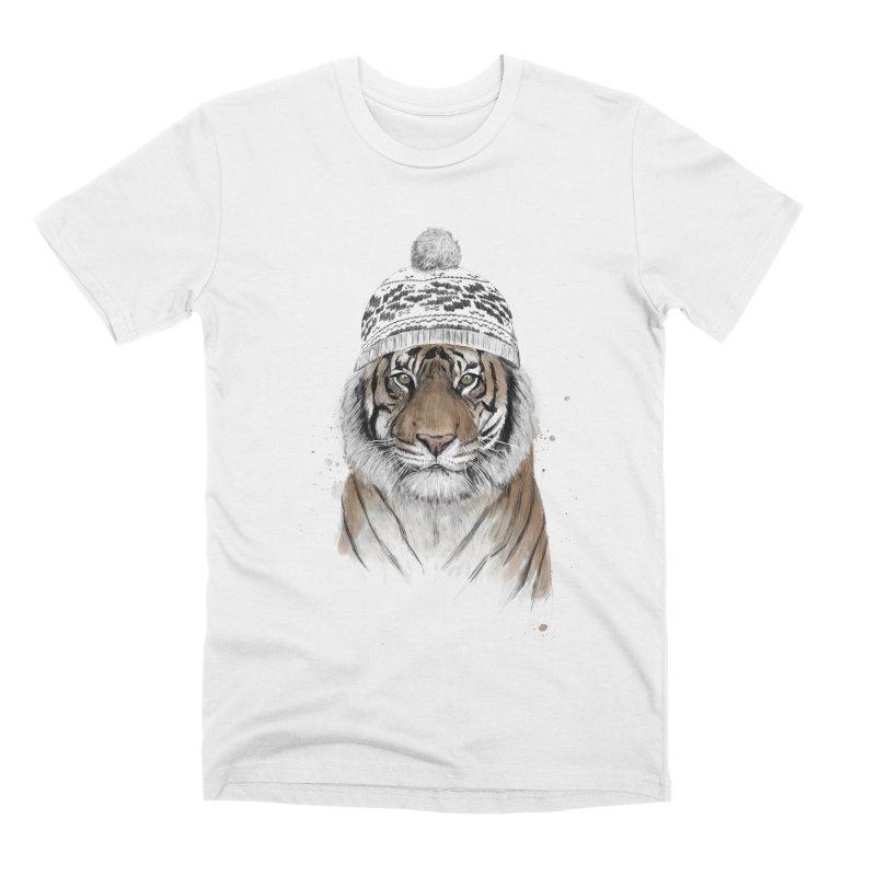 Siberian tiger Men's Premium T-Shirt by Balazs Solti