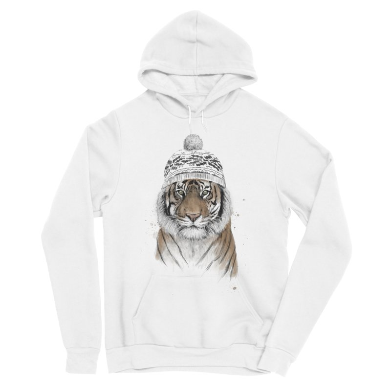 Siberian tiger Men's Sponge Fleece Pullover Hoody by Balazs Solti