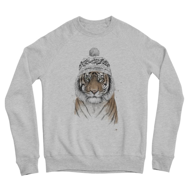 Siberian tiger Men's Sponge Fleece Sweatshirt by Balazs Solti