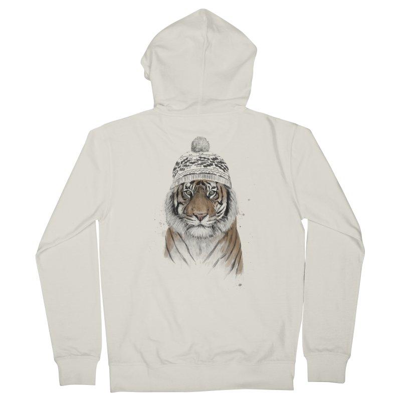 Siberian tiger Men's Zip-Up Hoody by Balazs Solti