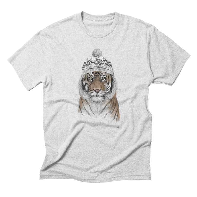 Siberian tiger Men's T-Shirt by Balazs Solti