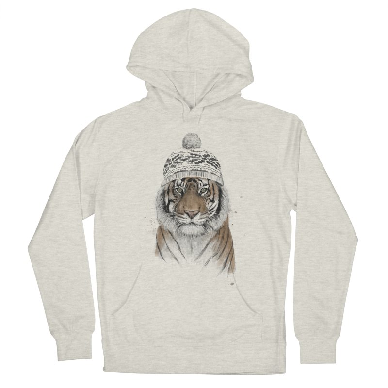 Siberian tiger Men's French Terry Pullover Hoody by Balazs Solti