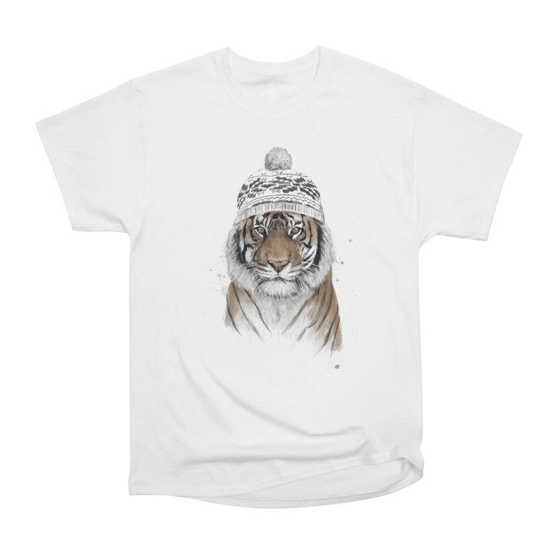 Siberian tiger Men's Heavyweight T-Shirt by Balazs Solti