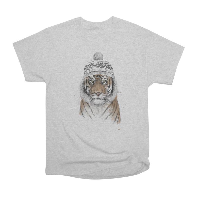 Siberian tiger Women's Heavyweight Unisex T-Shirt by Balazs Solti