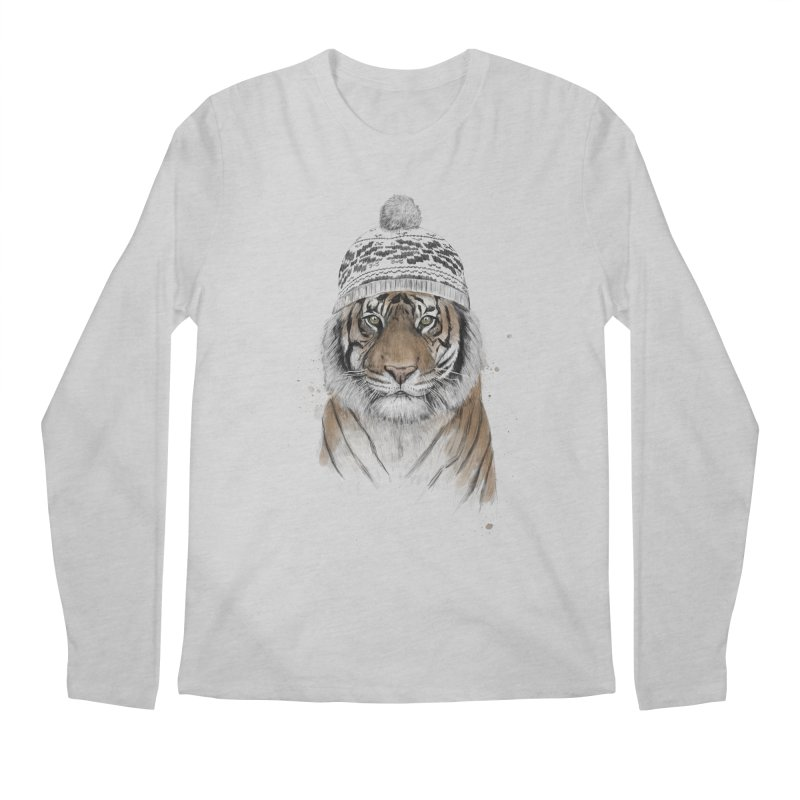 Siberian tiger Men's Regular Longsleeve T-Shirt by Balazs Solti