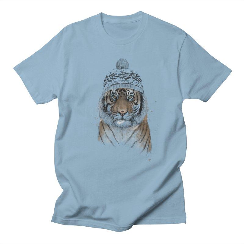 Siberian tiger Men's Regular T-Shirt by Balazs Solti