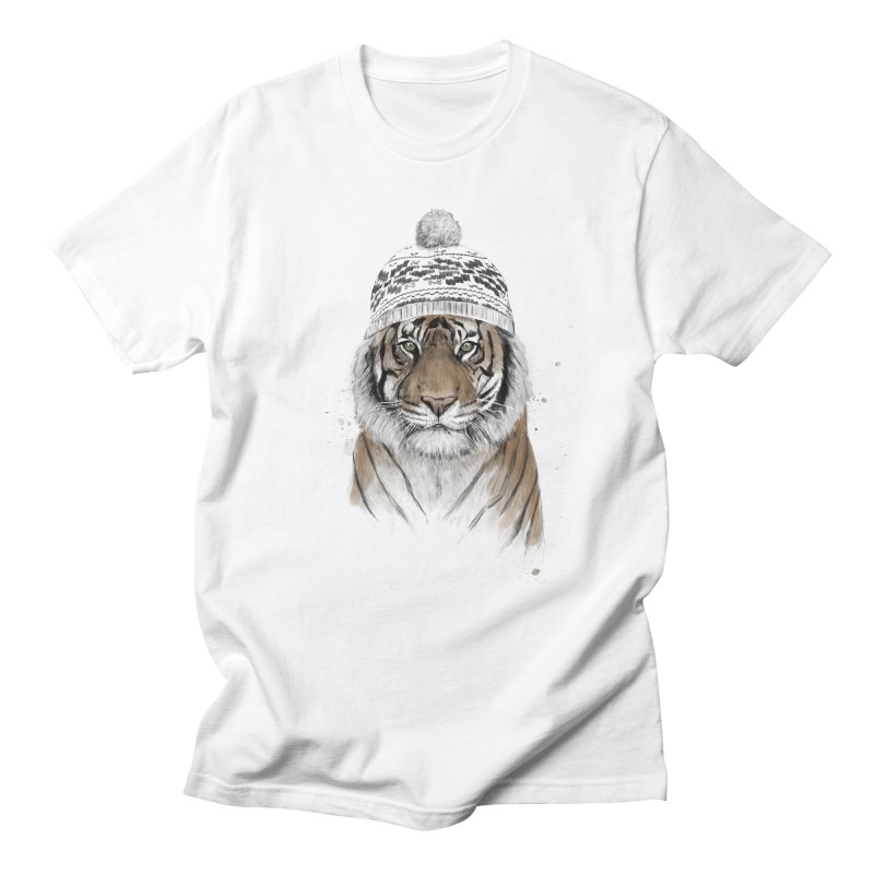 Siberian tiger Men's Regular T-Shirt by Balazs Solti