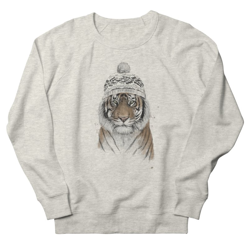 Siberian tiger Men's French Terry Sweatshirt by Balazs Solti