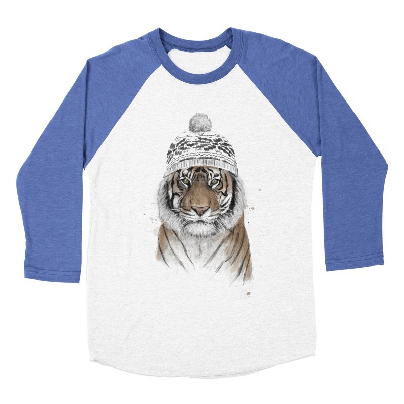 Siberian tiger Men's Baseball Triblend Longsleeve T-Shirt by Balazs Solti