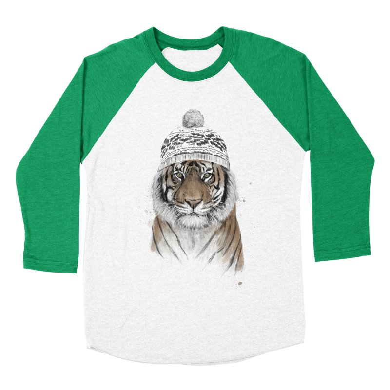Siberian tiger Men's Baseball Triblend Longsleeve T-Shirt by Balazs Solti