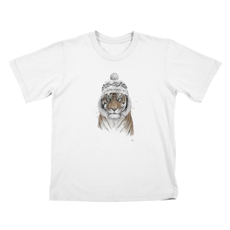 Siberian tiger Kids Toddler T-Shirt by Balazs Solti