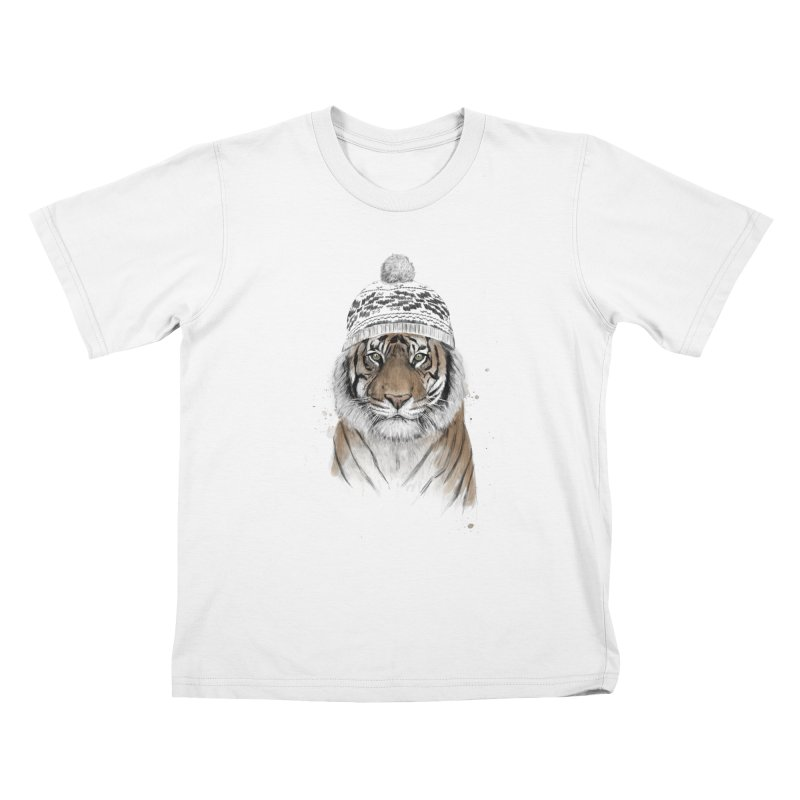 Siberian tiger Kids T-Shirt by Balazs Solti