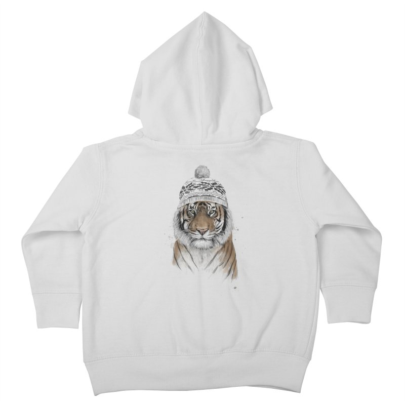 Siberian tiger Kids Toddler Zip-Up Hoody by Balazs Solti