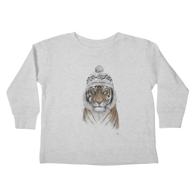 Siberian tiger Kids Toddler Longsleeve T-Shirt by Balazs Solti