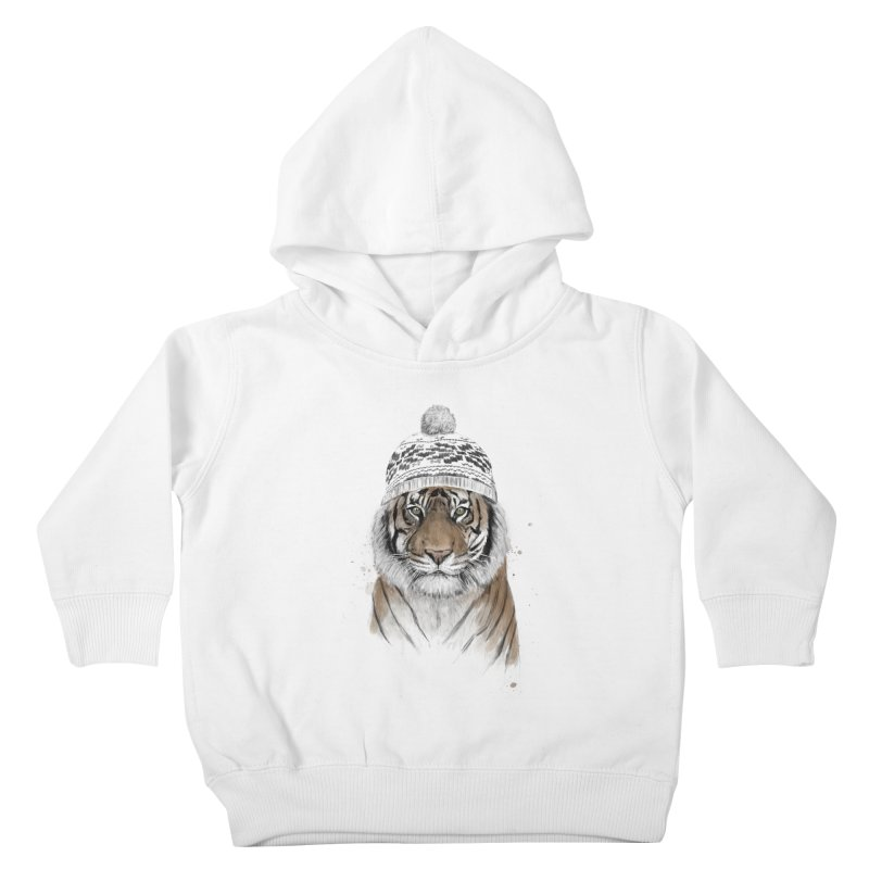 Siberian tiger Kids Toddler Pullover Hoody by Balazs Solti