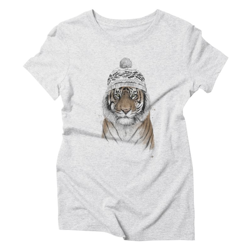 Siberian tiger Women's Triblend T-Shirt by Balazs Solti