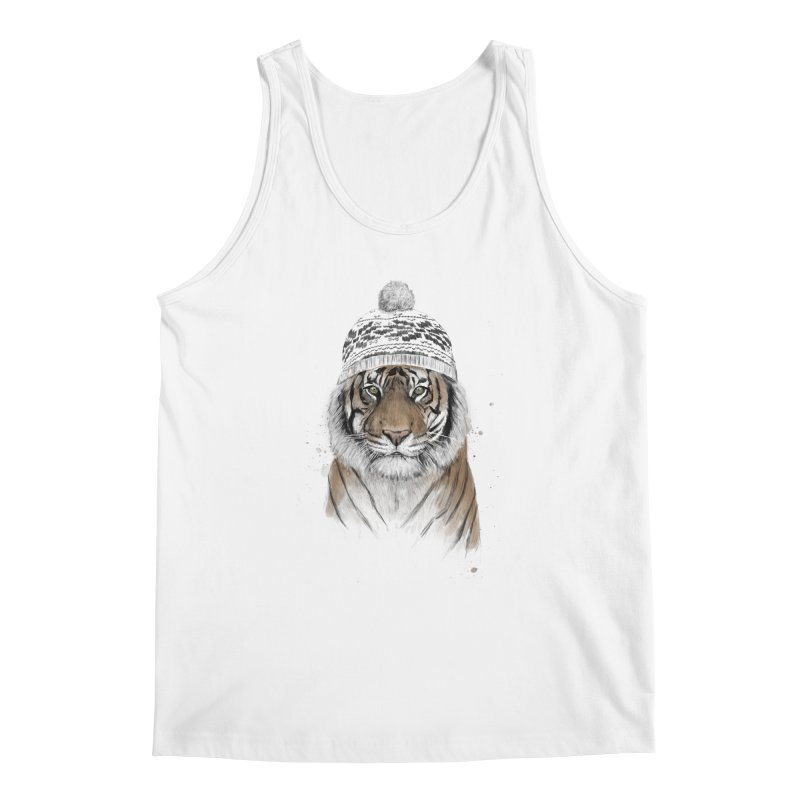 Siberian tiger Men's Regular Tank by Balazs Solti