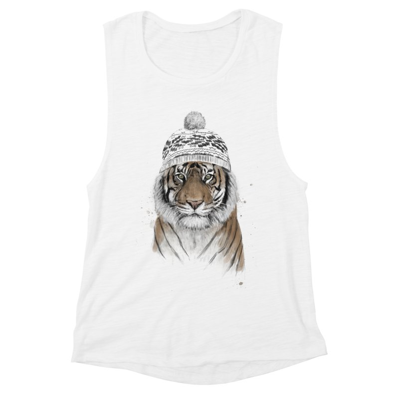 Siberian tiger Women's Muscle Tank by Balazs Solti