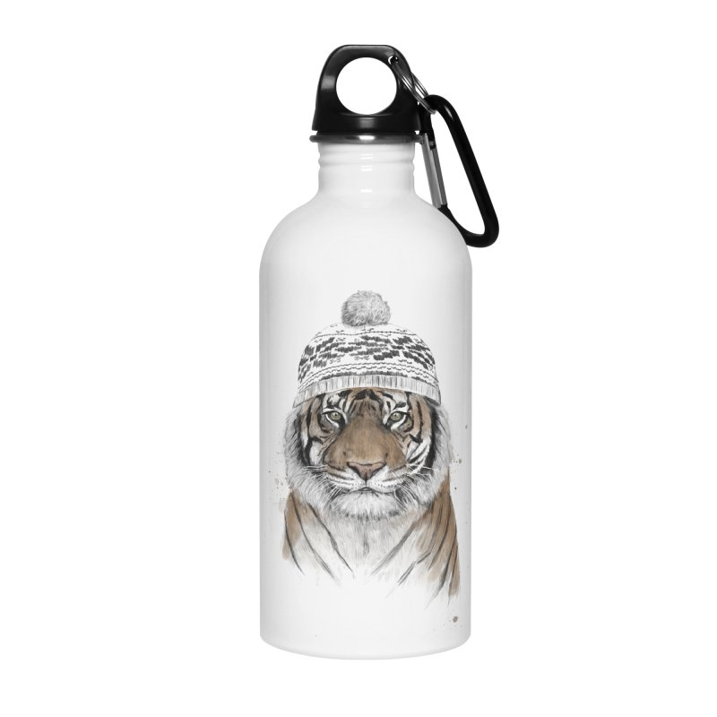 Siberian tiger Accessories Water Bottle by Balazs Solti