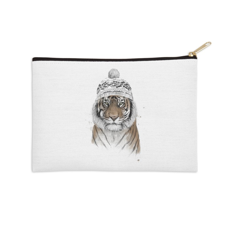 Siberian tiger Accessories Zip Pouch by Balazs Solti