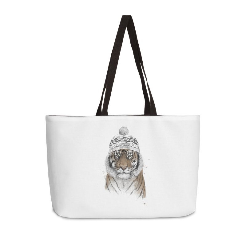 Siberian tiger Accessories Weekender Bag Bag by Balazs Solti