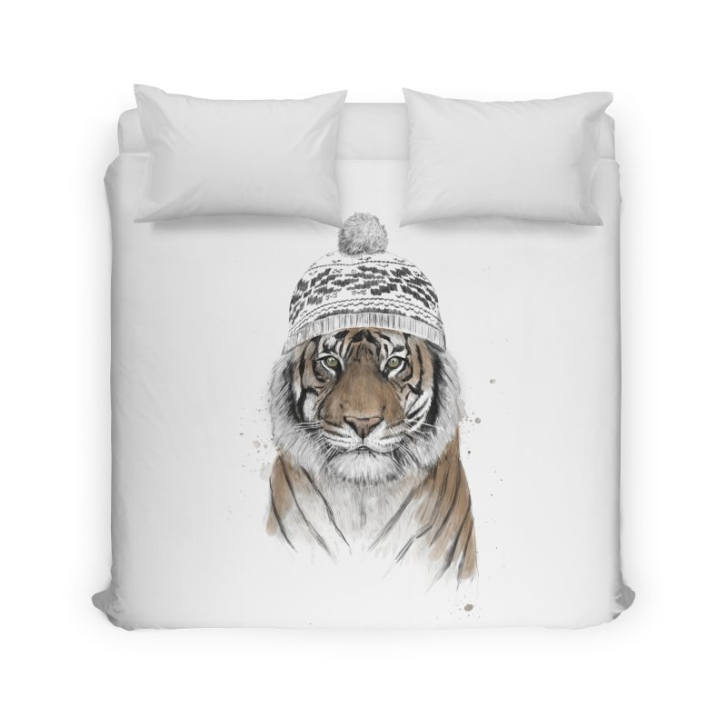 Siberian tiger Home Duvet by Balazs Solti