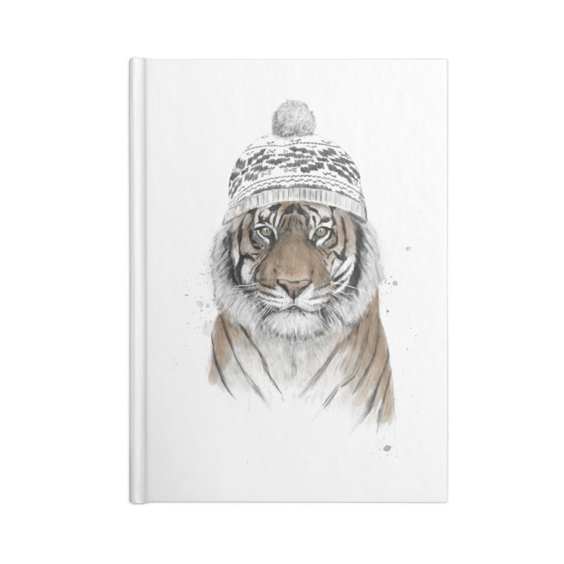Siberian tiger Accessories Lined Journal Notebook by Balazs Solti