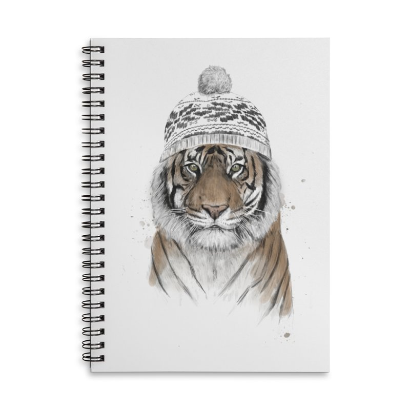 Siberian tiger Accessories Lined Spiral Notebook by Balazs Solti