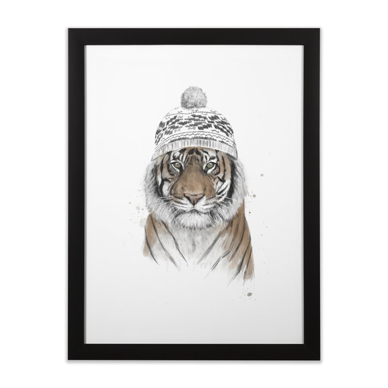 Siberian tiger Home Framed Fine Art Print by Balazs Solti
