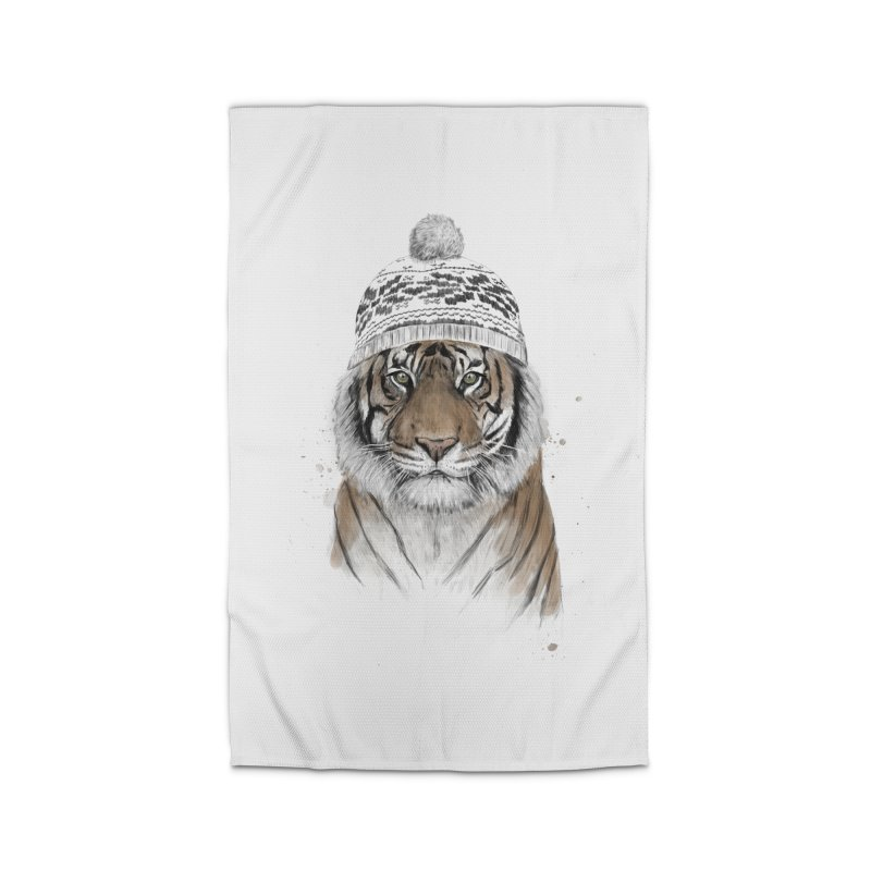 Siberian tiger Home Rug by Balazs Solti