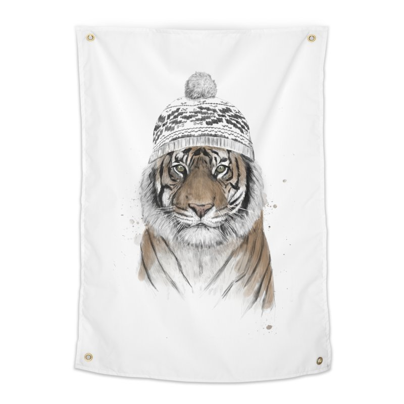 Siberian tiger Home Tapestry by Balazs Solti