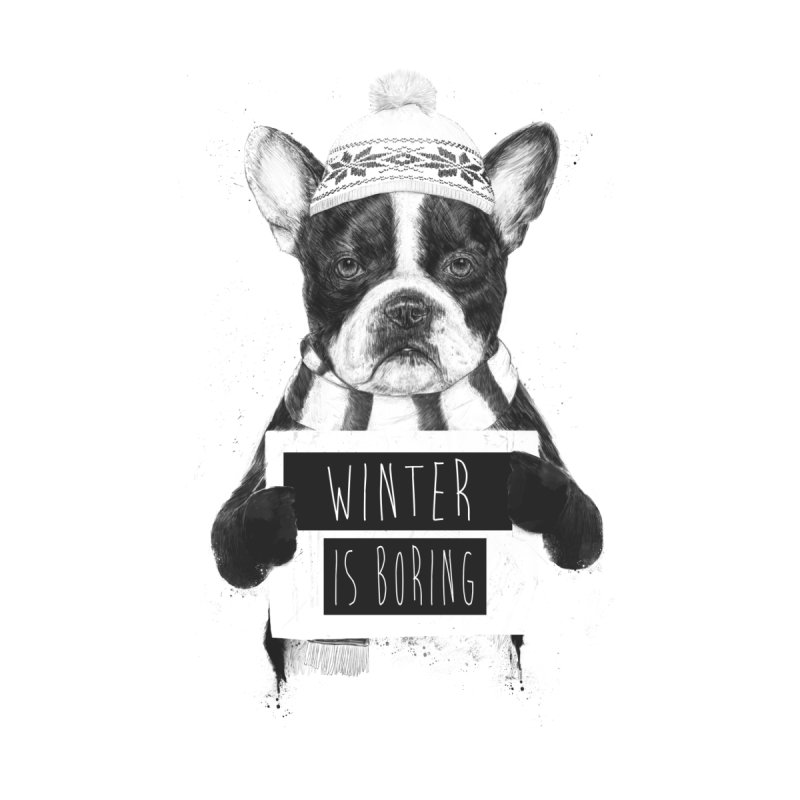 Winter is boring Men's T-Shirt by Balazs Solti