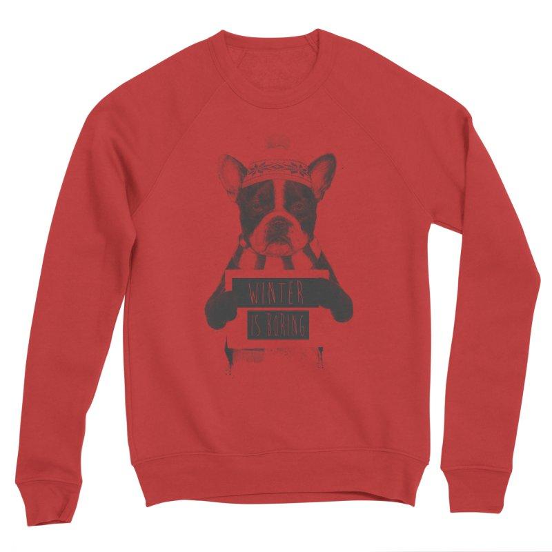 Winter is boring Men's Sponge Fleece Sweatshirt by Balazs Solti