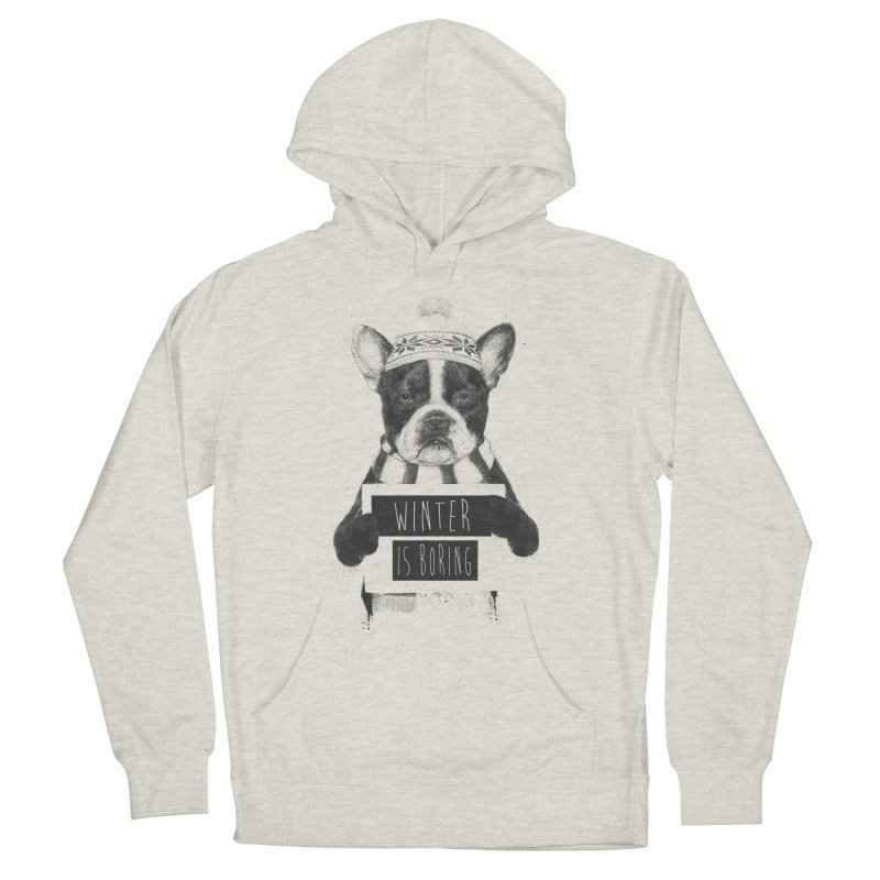 Winter is boring Women's French Terry Pullover Hoody by Balazs Solti