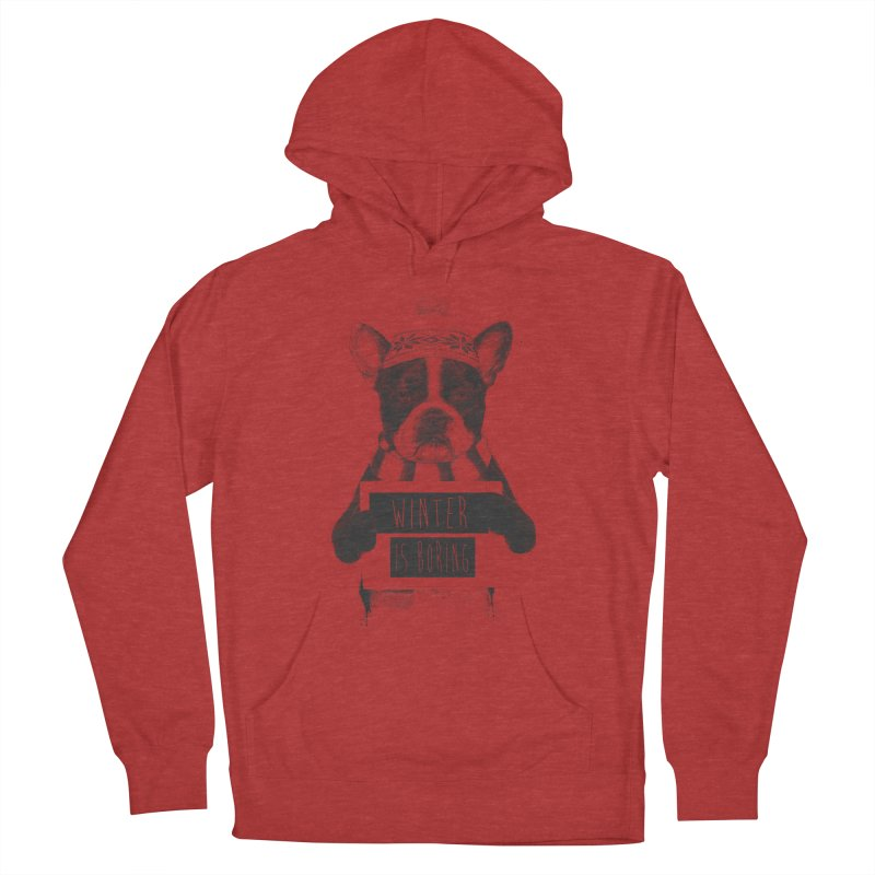 Winter is boring Men's French Terry Pullover Hoody by Balazs Solti