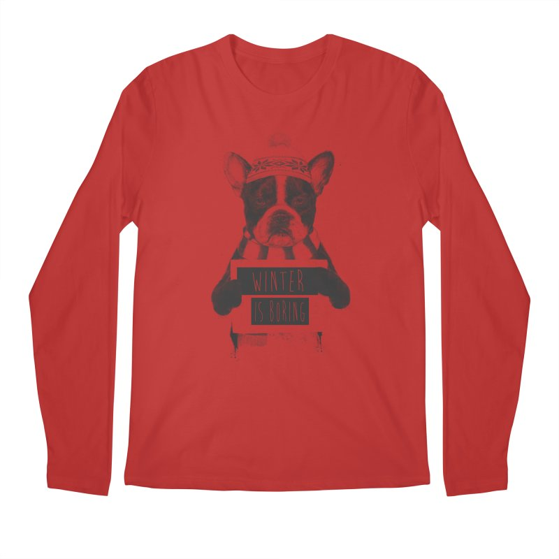 Winter is boring Men's Regular Longsleeve T-Shirt by Balazs Solti