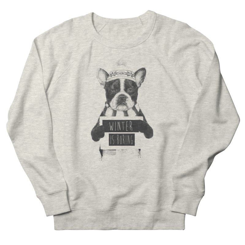 Winter is boring Men's French Terry Sweatshirt by Balazs Solti