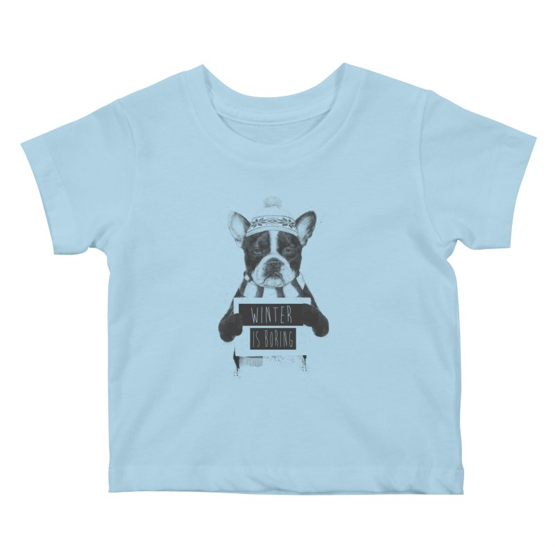 Winter is boring Kids Baby T-Shirt by Balazs Solti