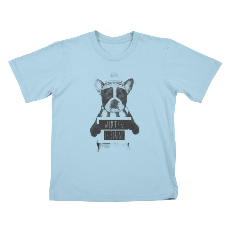 Winter is boring Kids T-Shirt by Balazs Solti