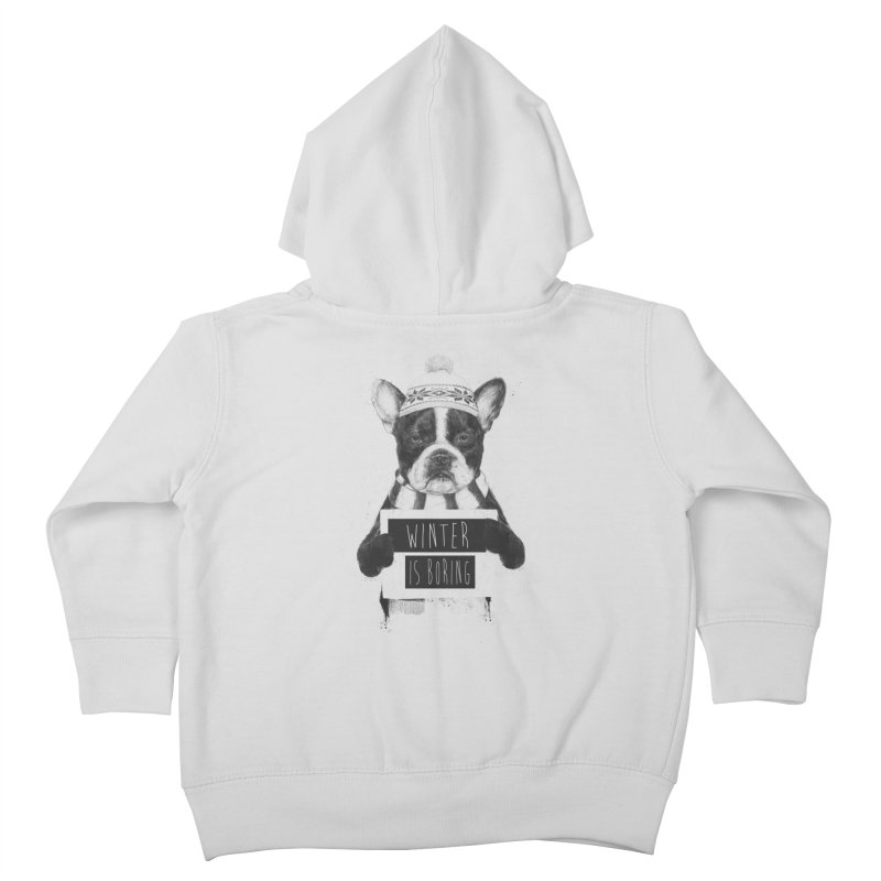 Winter is boring Kids Toddler Zip-Up Hoody by Balazs Solti